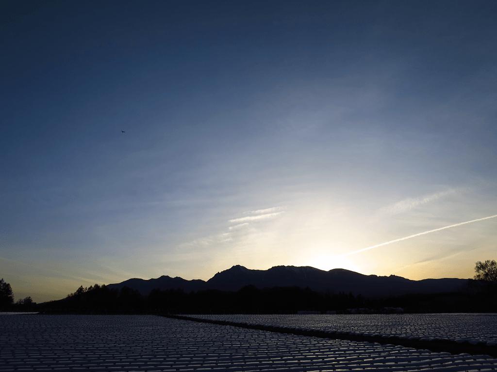 八ヶ岳の夕暮れ